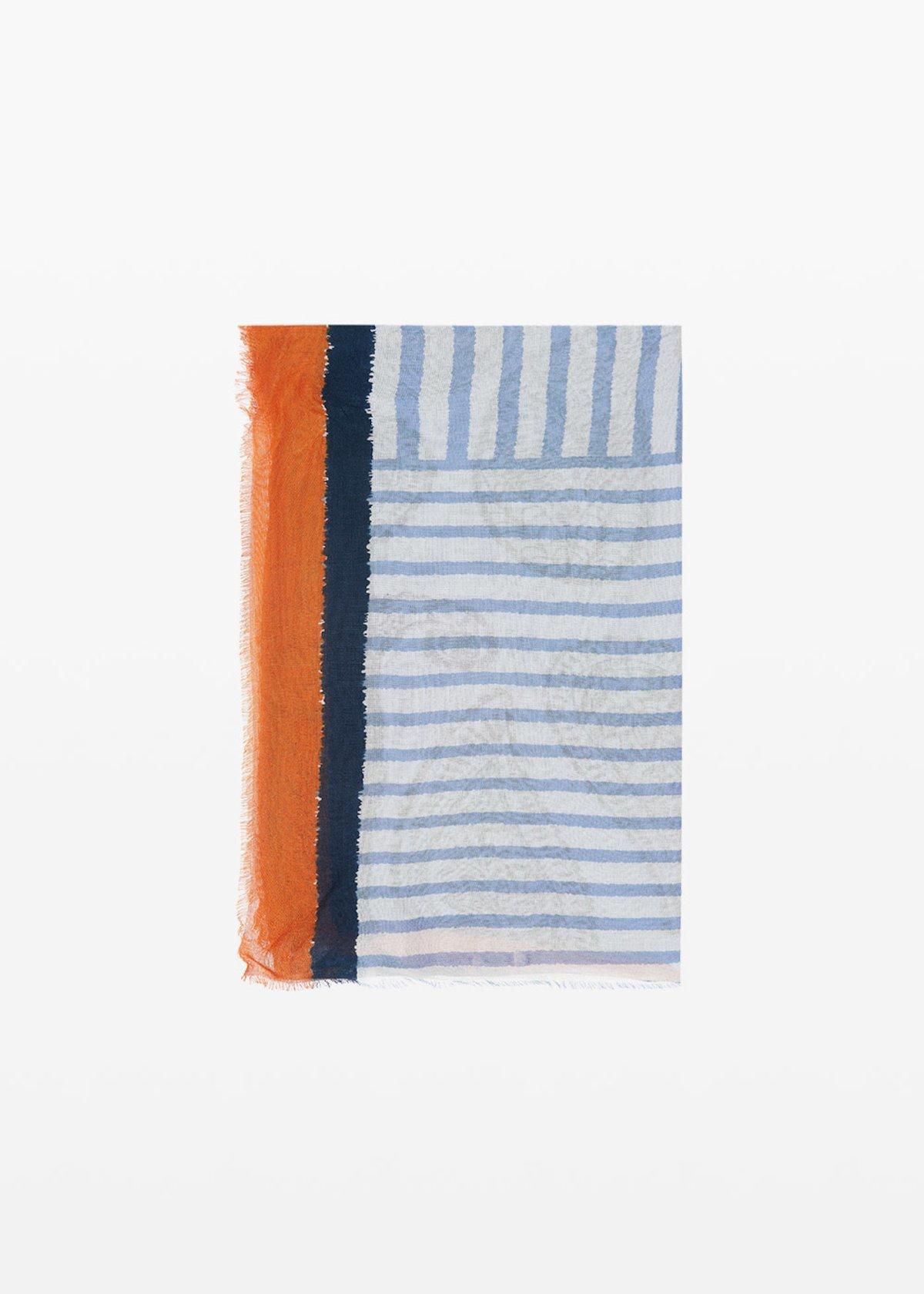 Sask patch printed scarf - Linen Fantasia - Woman