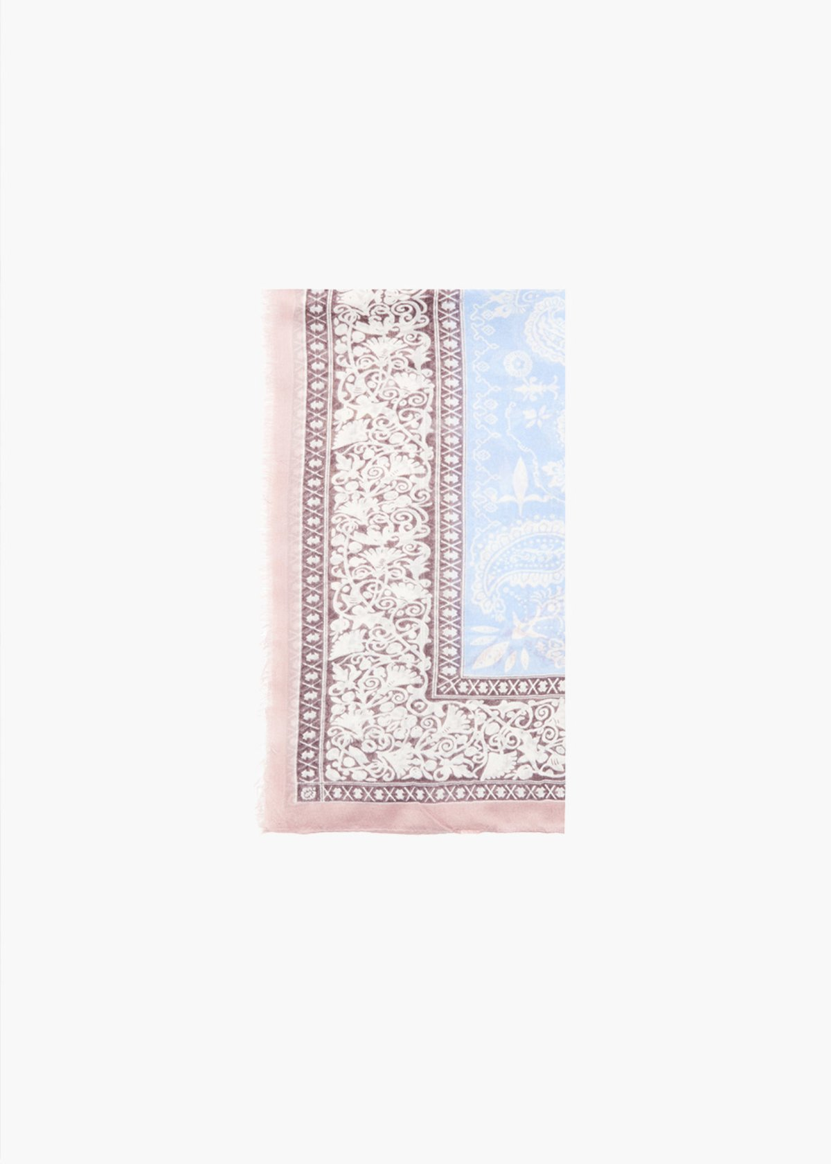 Sidny cashmere print scarf - Calcite Fantasia - Woman
