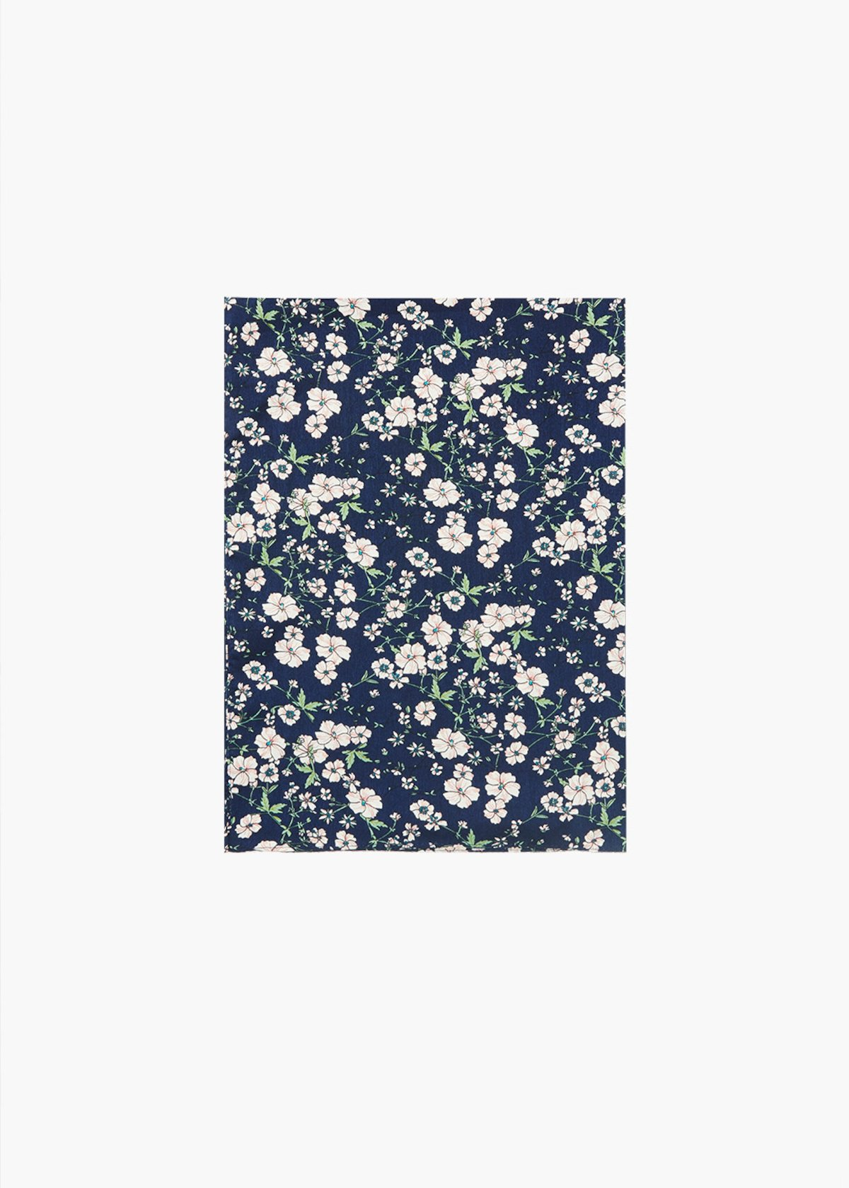 Star scarf with micro floral print - Medium Blue Fantasia - Woman