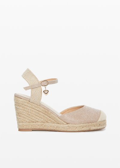 Sery glitter effect closed sandals with wedge