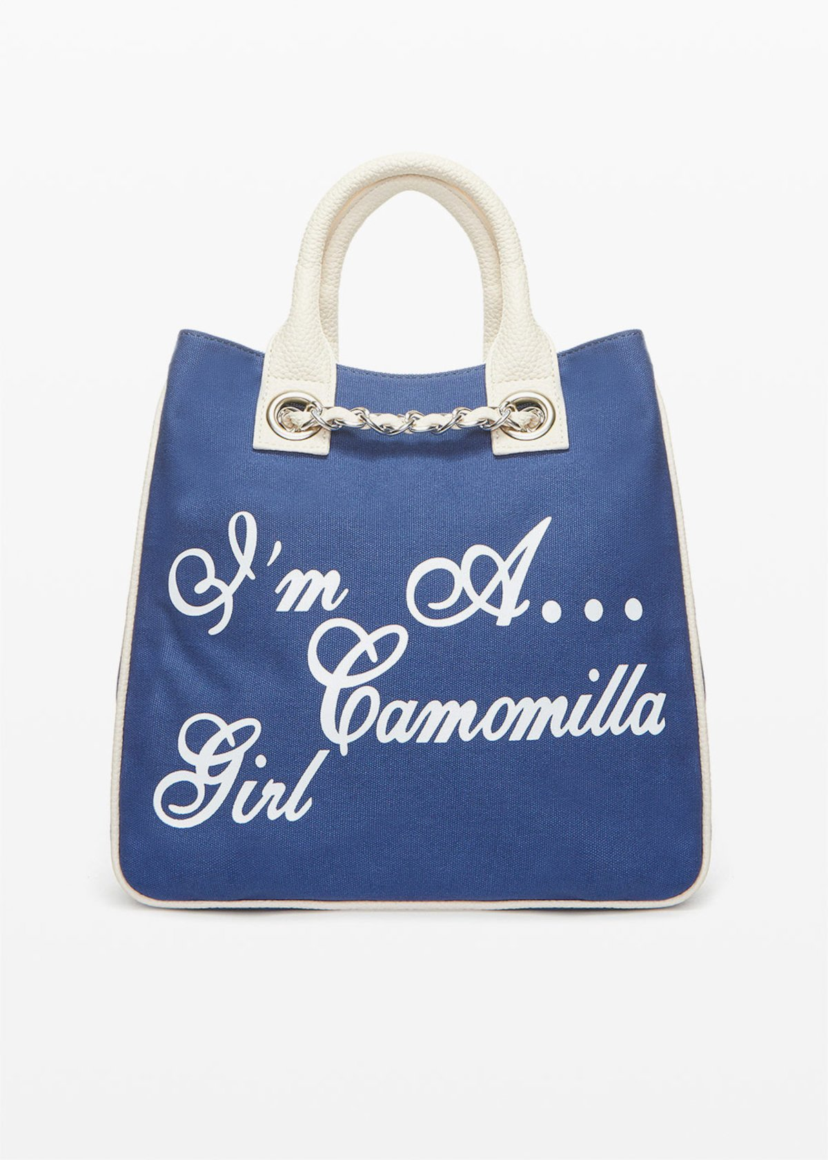 Shopping bag Mcamocanv in canvas - Avion / White - Donna - Immagine categoria