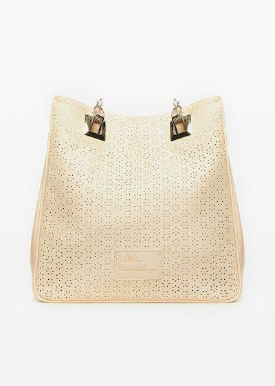 Shopping bag Missflope in tessuto traforato