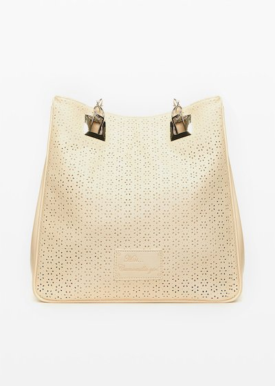 Missflope perforated fabric shopping bag