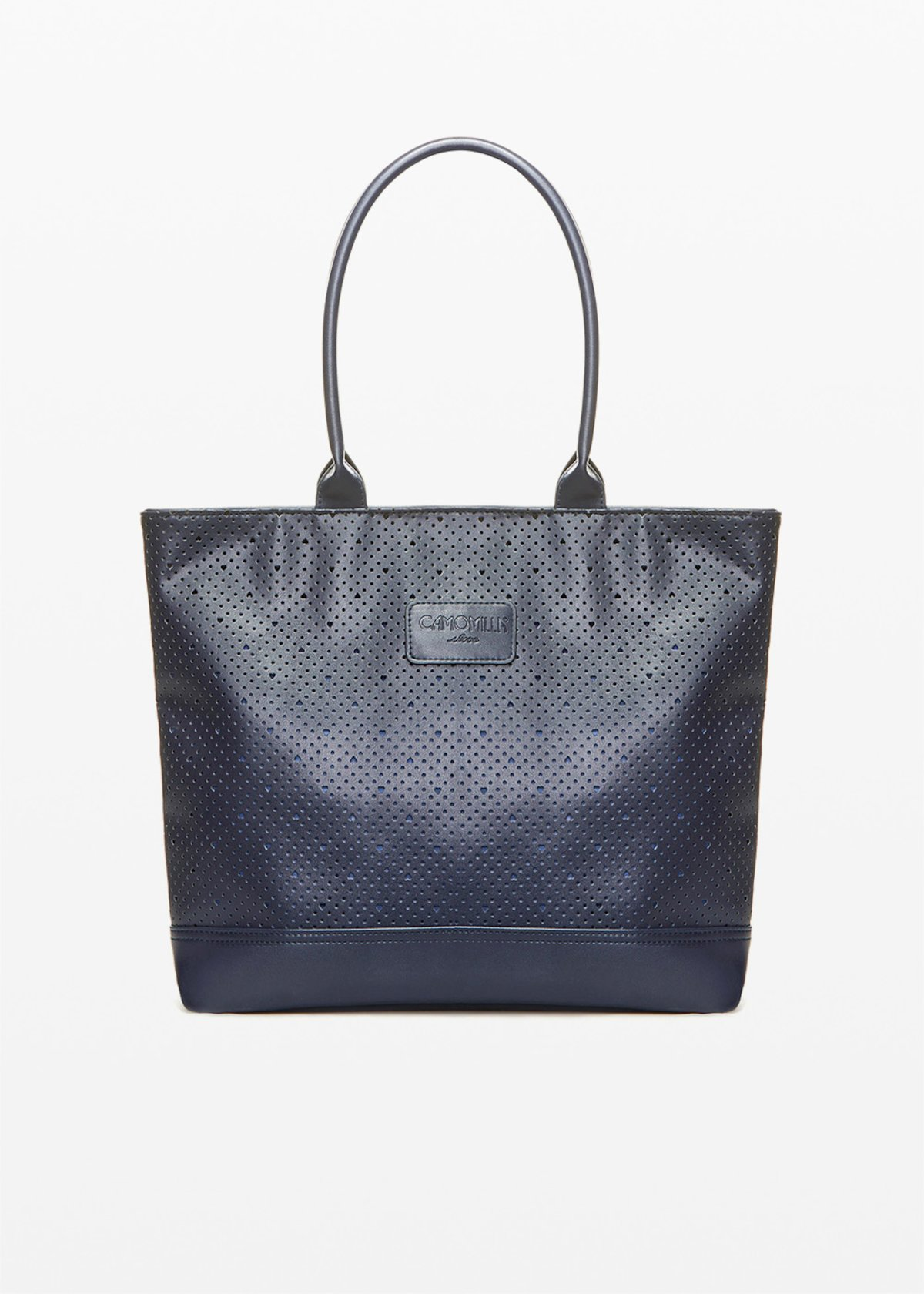 Trenheape shopping bag with faux leather handles - Medium Blue - Woman