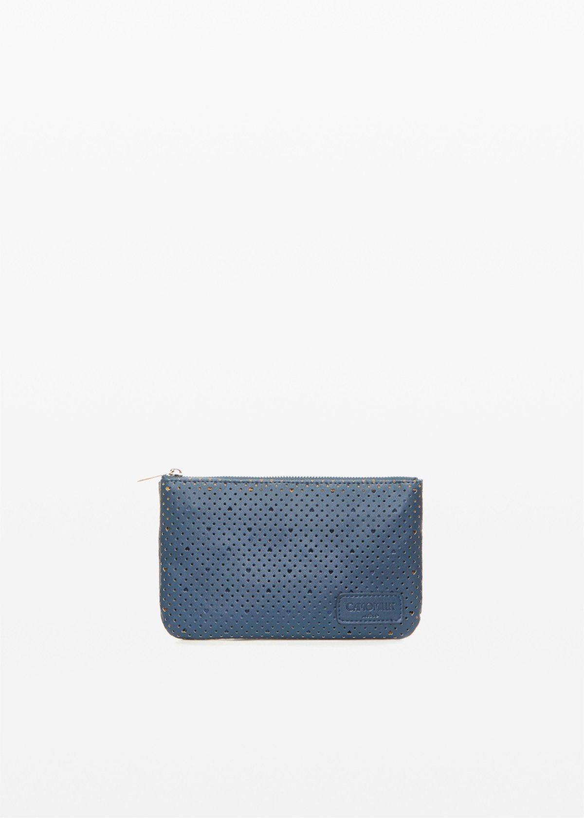 Tongheape Tonga bag with perforated hearts - Medium Blue - Woman