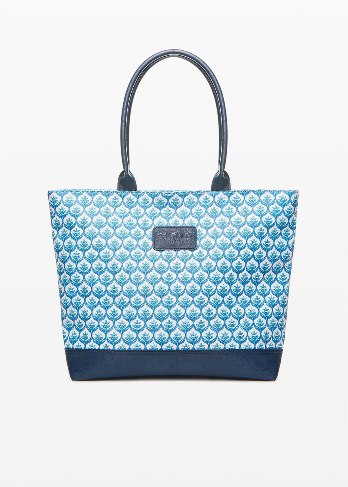 Trenmaiol shopping bag with double handles - White / Avion  Fantasia - Woman