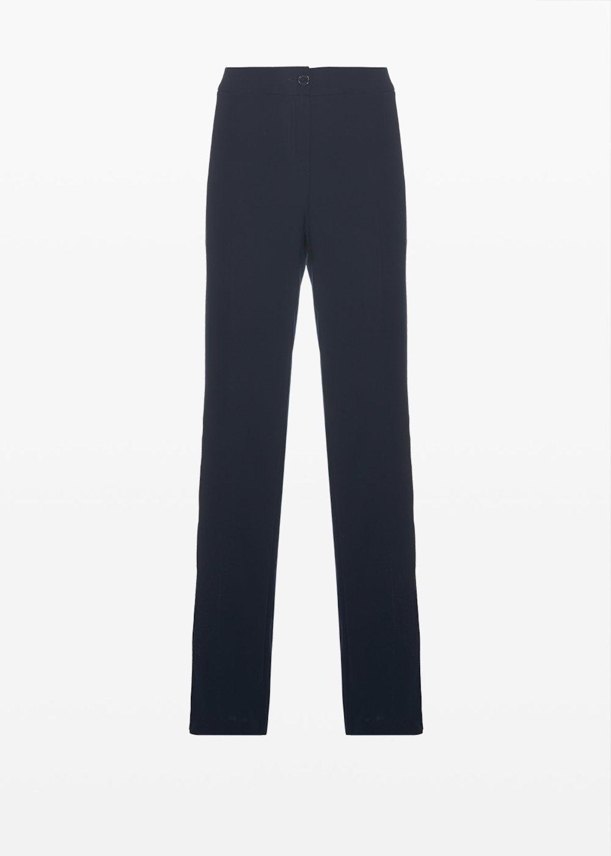 Pantaloni Pompeo in cadì con zip laterale - Medium Blue - Donna