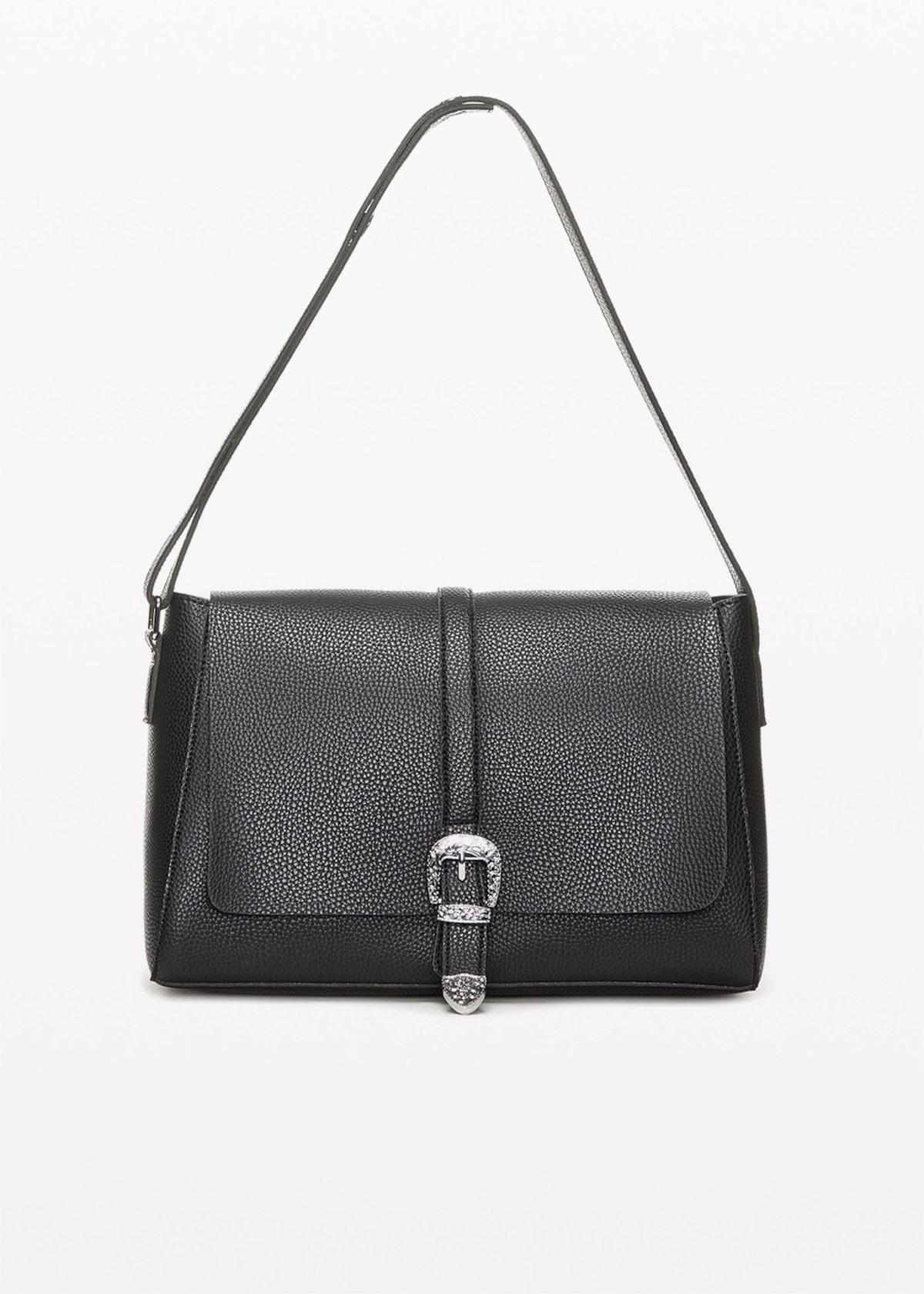 Boraliatx shopping bag with metal closure - Black - Woman