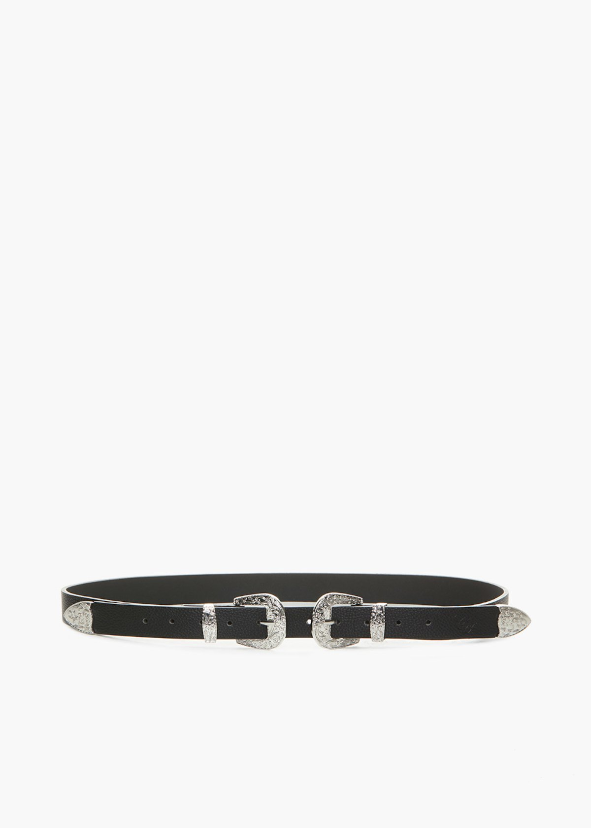 Cassidy belt with deer print - Black - Woman