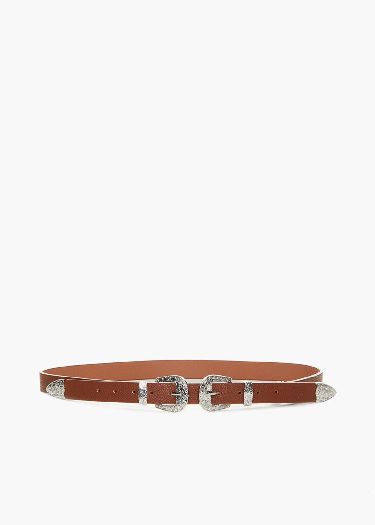 Cassidy belt with deer print - Copper - Woman