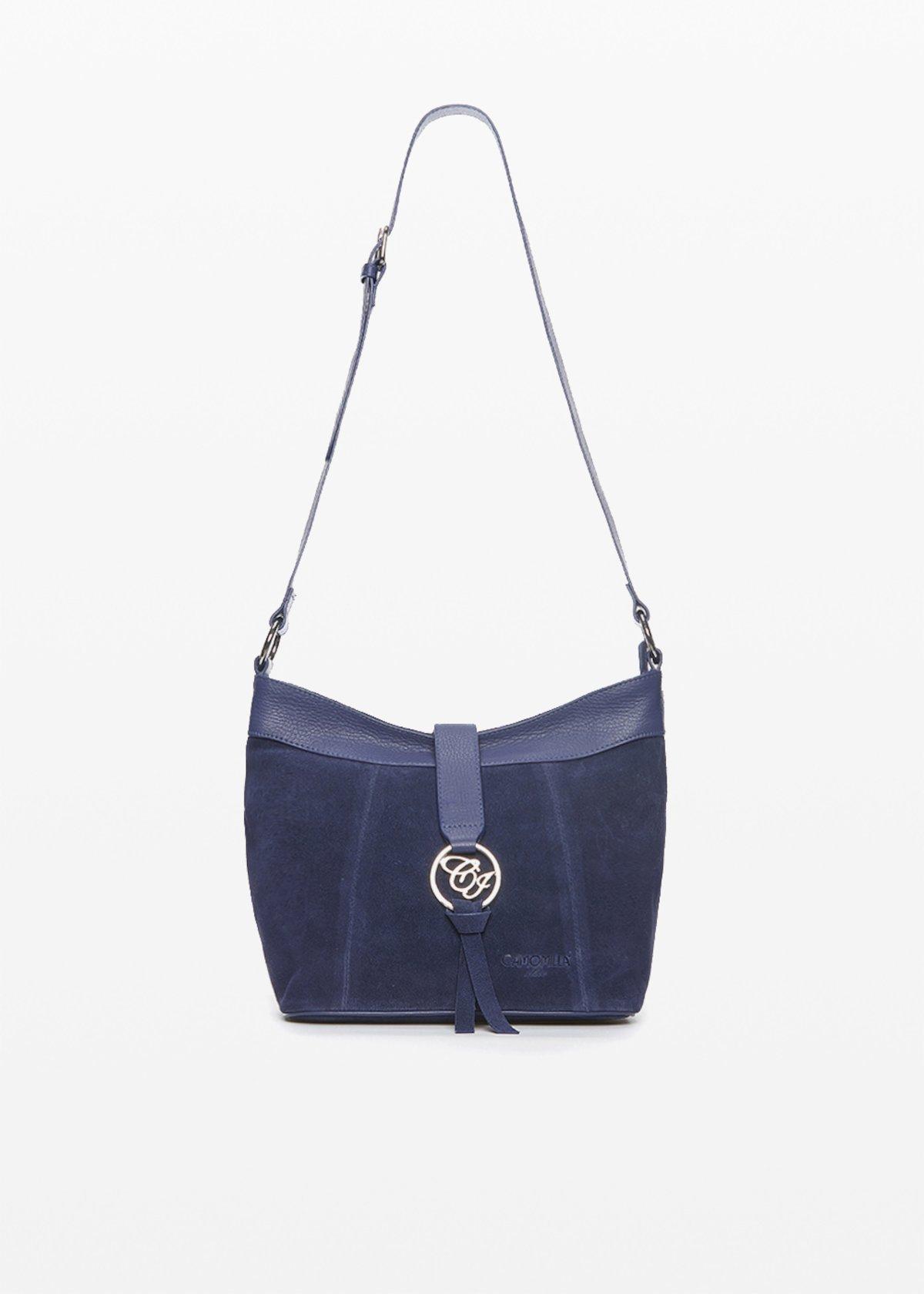 Shoulder bag Bettie con logo metallo - Medium Blue - Donna