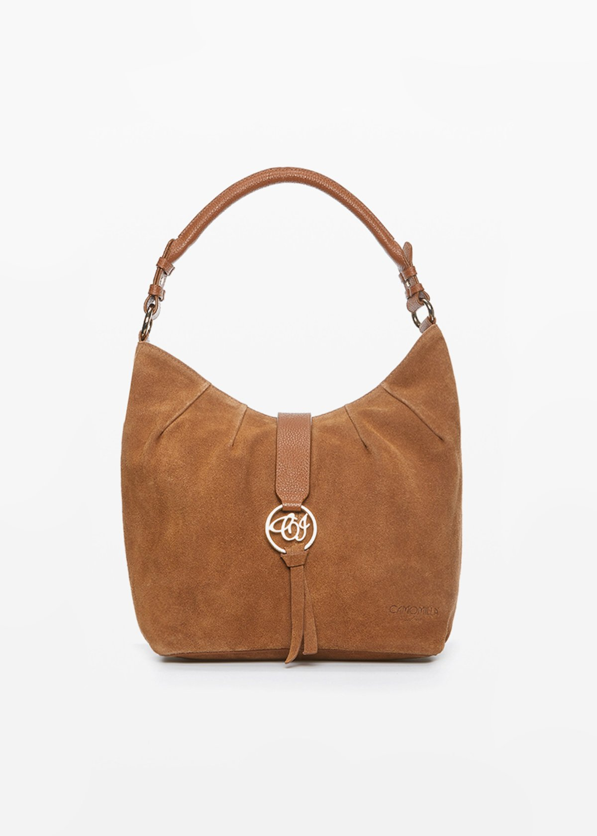 Blanch real suede leather bag - Tobacco - Woman