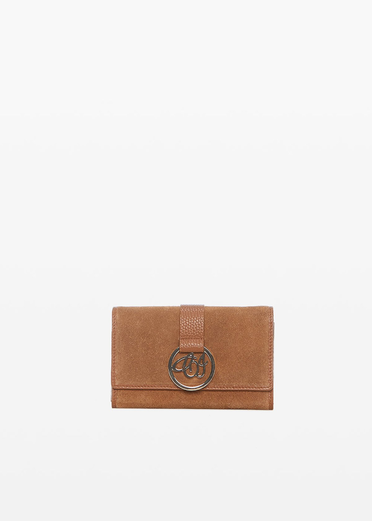 Pollie Wallet with logo - Tobacco - Woman