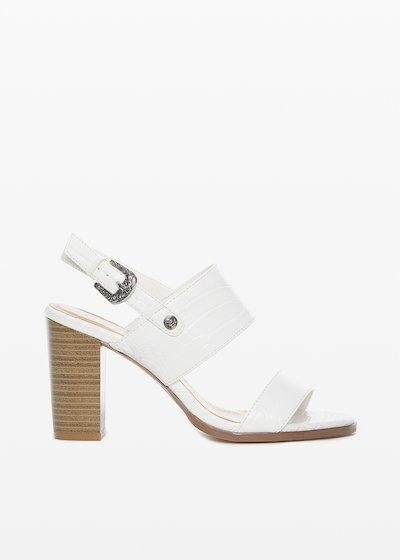 Shayla faux leather sandal crocodile effect