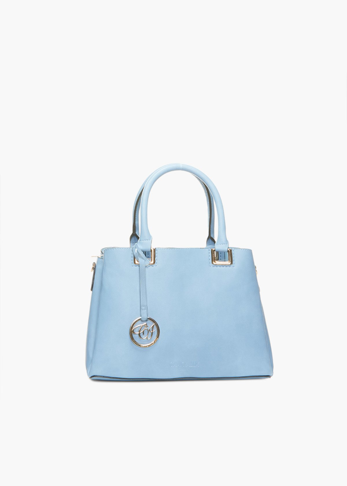 Brook faux leather handles bag with shoulder strap - Shark - Woman