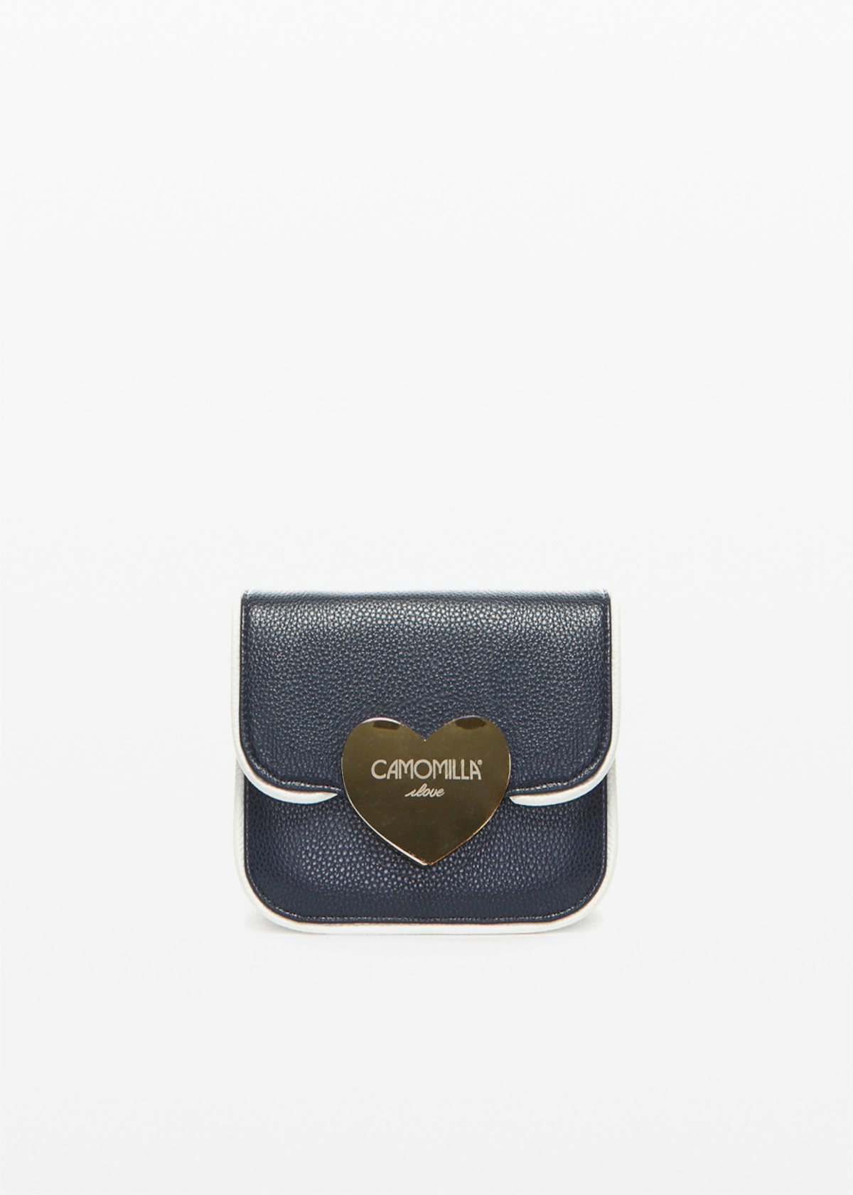 Biping Clutch bag with love light gold closure - Blu White Fantasia - Woman