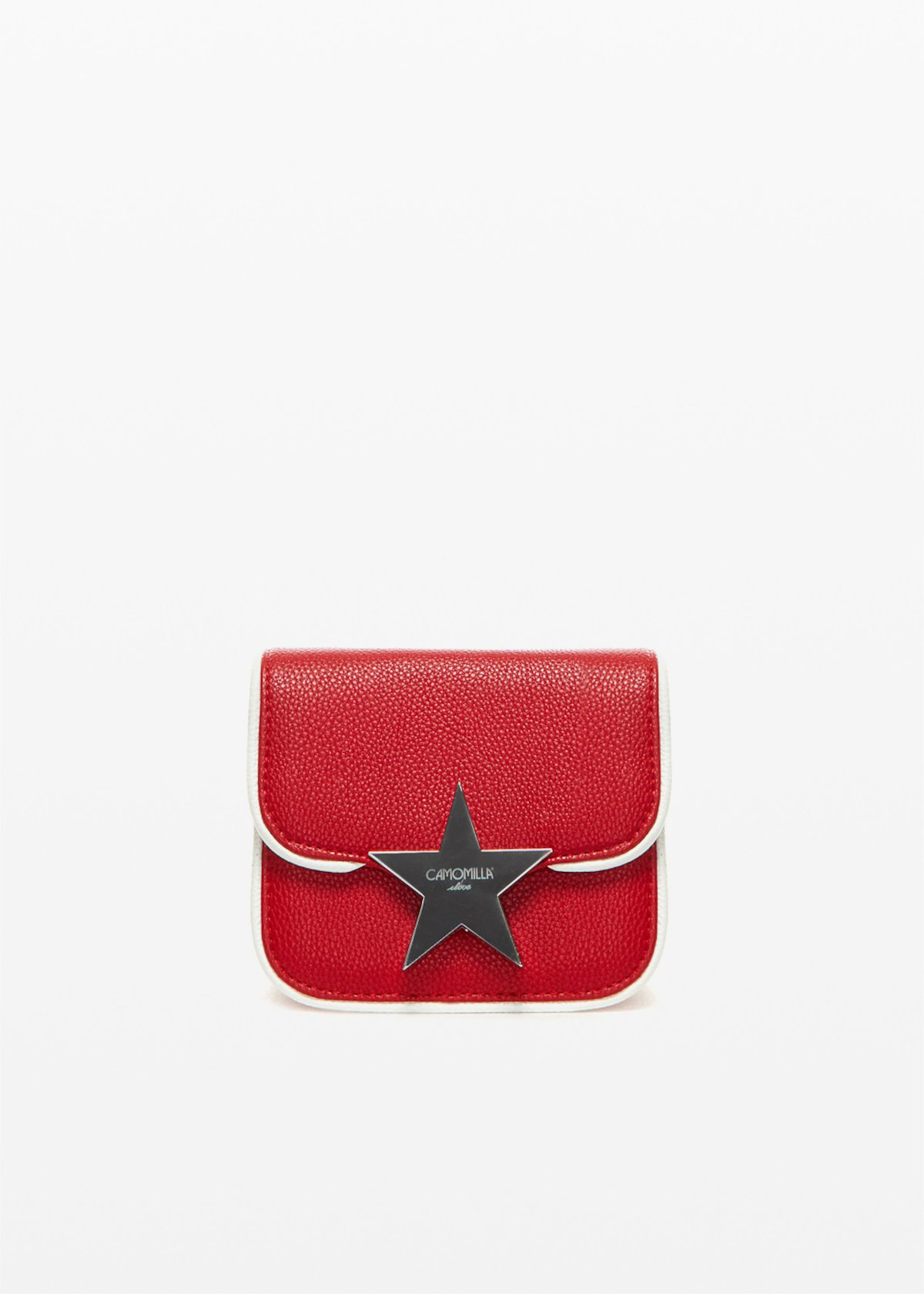 Burpies clutch bag with star clasp - Tulipano / White - Woman - Category image