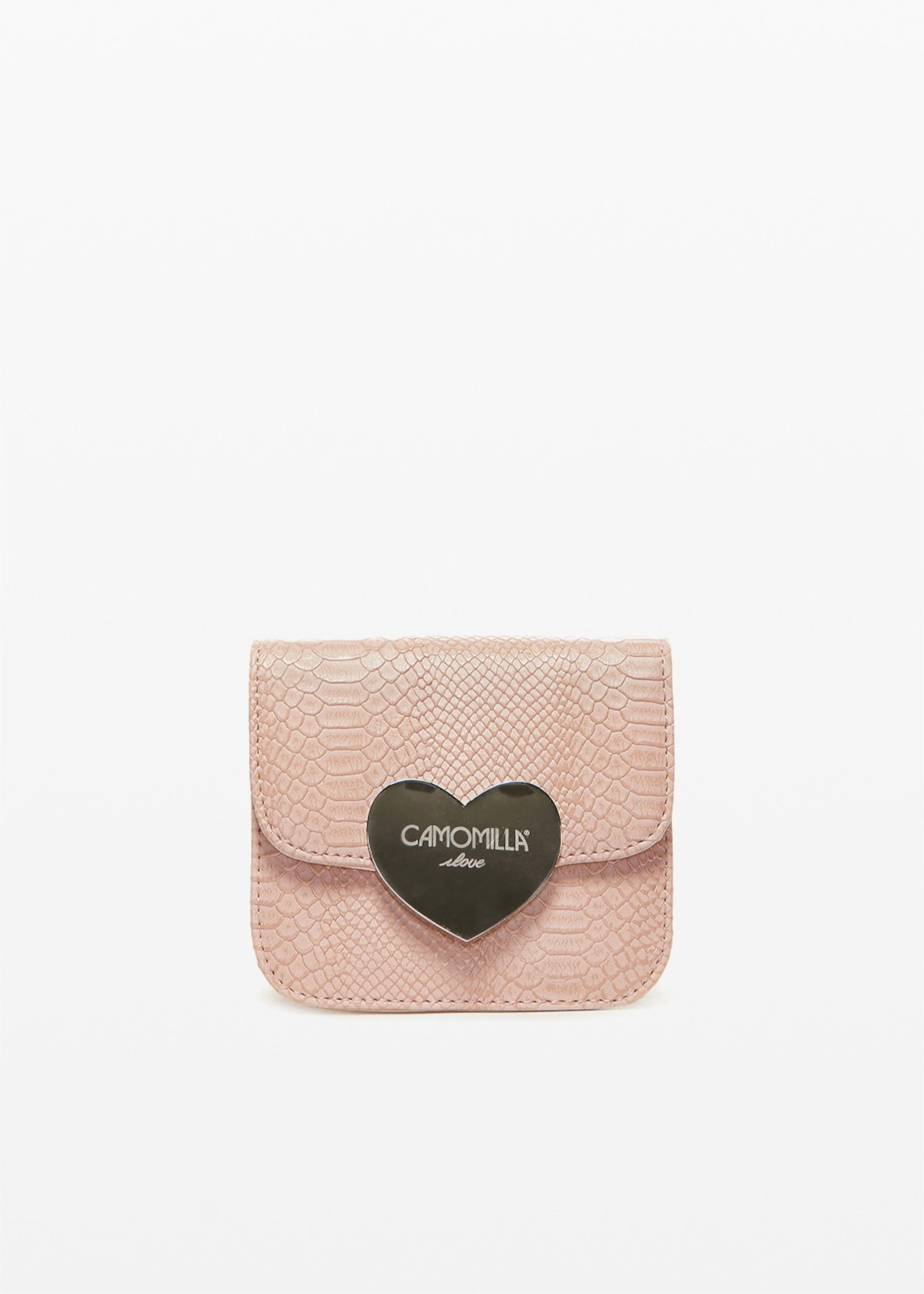 Blassy clutch bag with love closure - Calcite - Woman