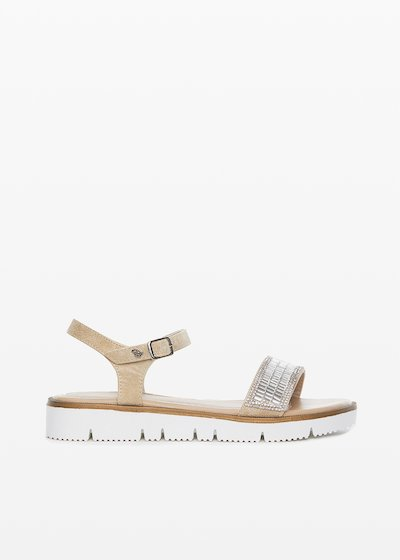 Shilin crystal detail low sandals