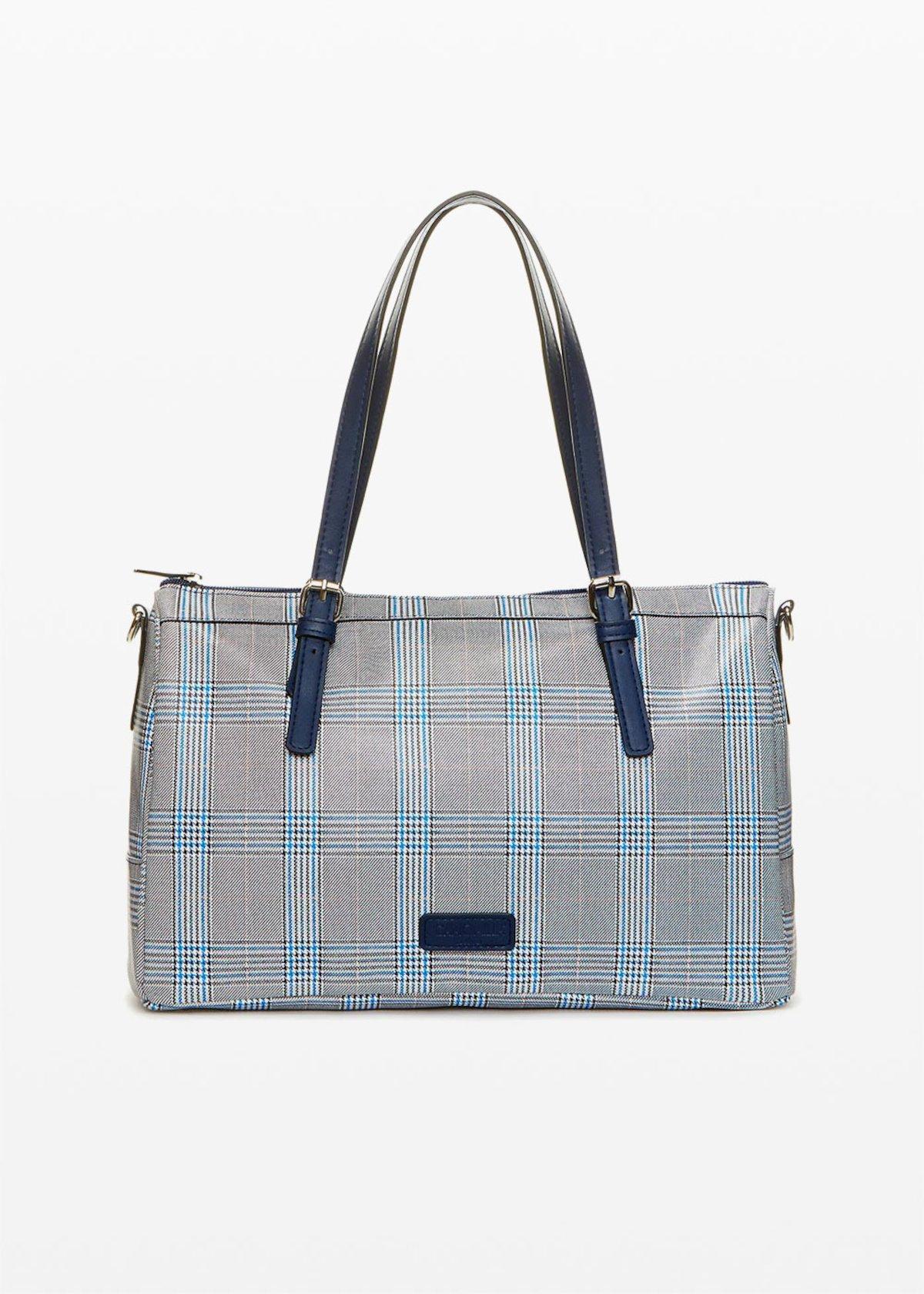 Blind bag check print - Medium Blue Fantasia - Woman
