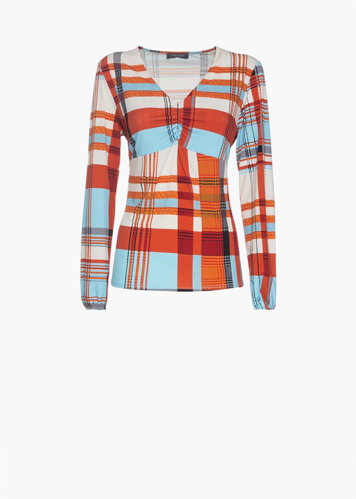Patterned madras t-shirt Senorita in jersey