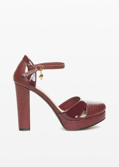 Patent Sophie sandal python effect