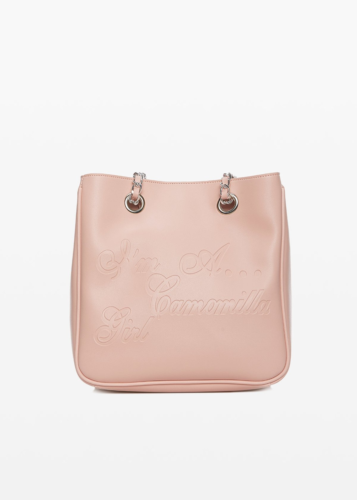Shopping bag Micamunli in ecopelle con logo