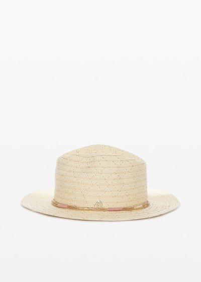 Cappello Ciber in paglia con dettaglio cordoncino