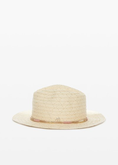 Ciber straw hat with drawstring detail