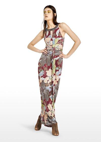 Akbaslar long dress ethnic flowers pattern