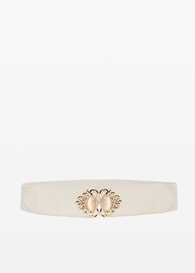 Charlott faux leather belt with light gold closure