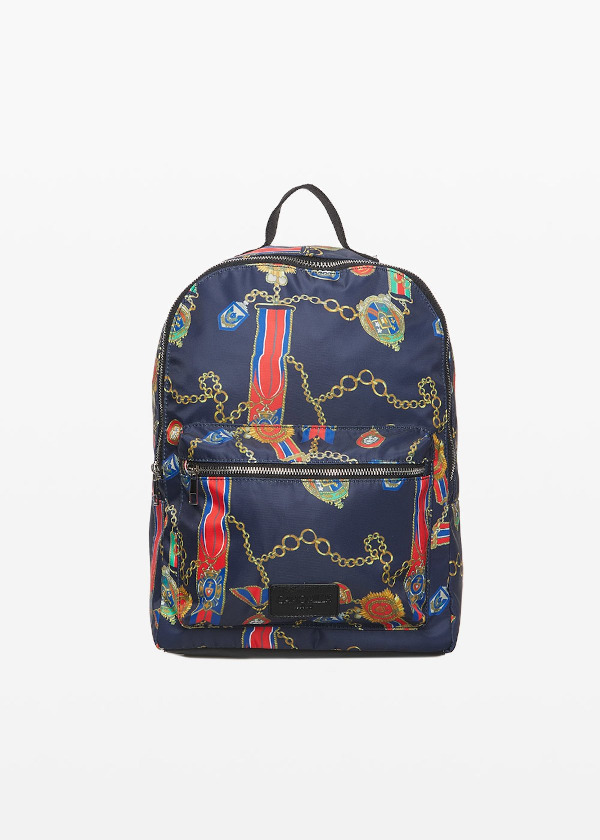 Bleau chains and medals print nylon backpack - Medium Blue Fantasia - Woman - Category image
