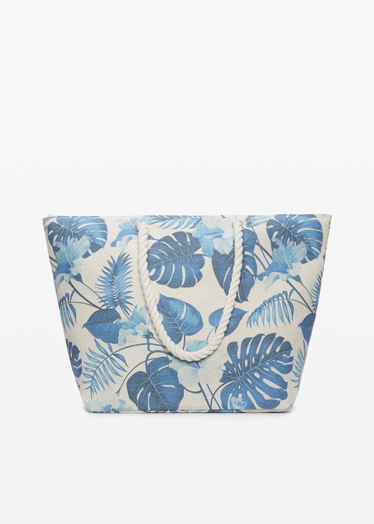 Shopping bag Baldy stampa foglie con doppi manici - Mineral Fantasia - Woman