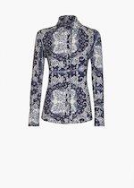 ... Camicia Carina in jersey fantasia paisley bandana - Blue   White  Fantasia - donna - Immagine 0204a355e96b