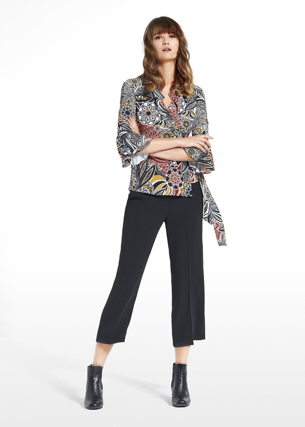 T-shirt Shana patterned desert Gobi - Black White Fantasia - Woman - Category image
