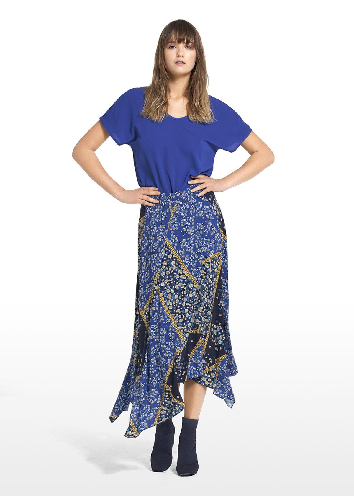 Skirt Glory with asymmetric cut - Avion / Miele Fantasia - Woman
