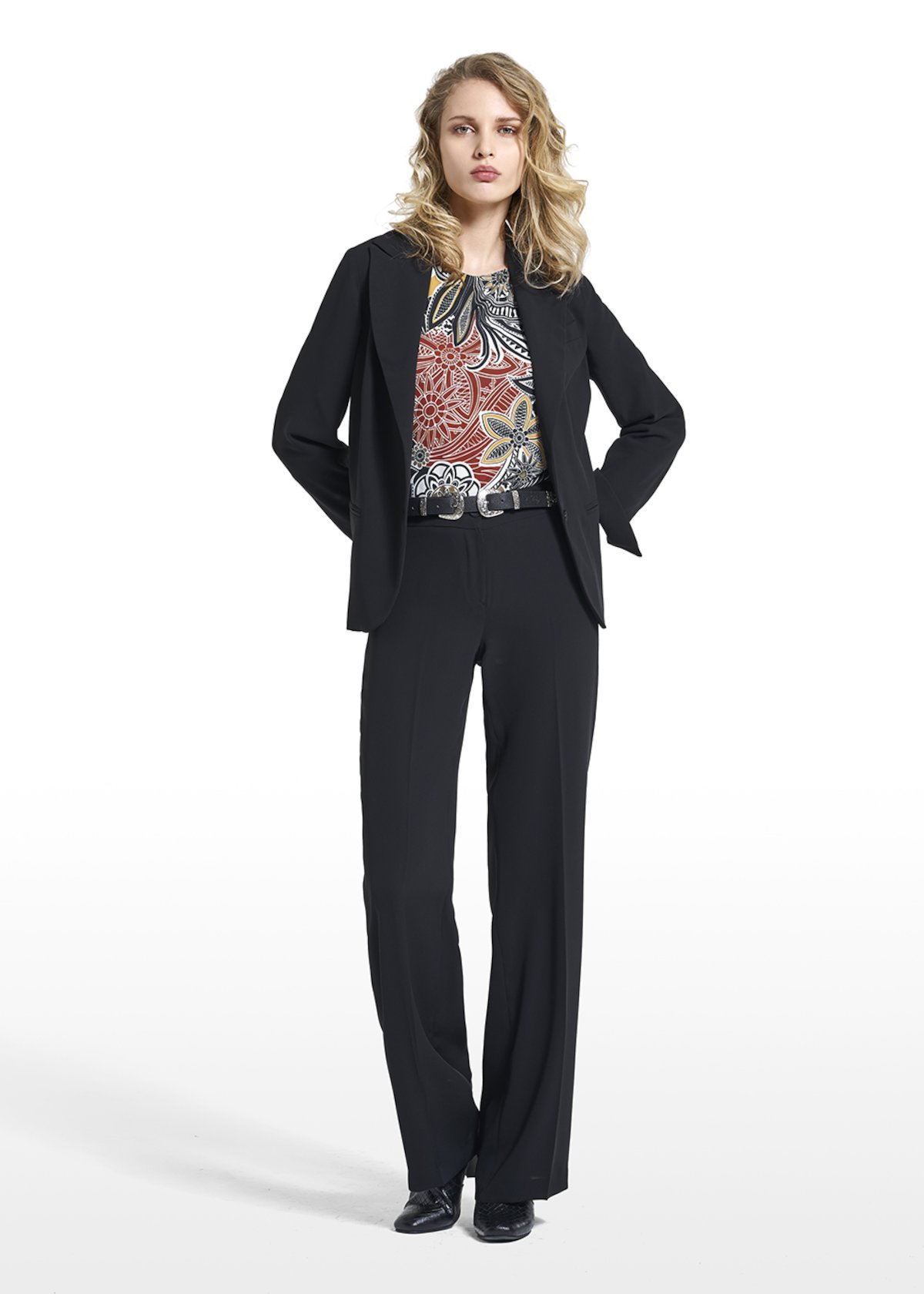 Jacket Gioia in jolie cady fabric - Black - Woman - Category image