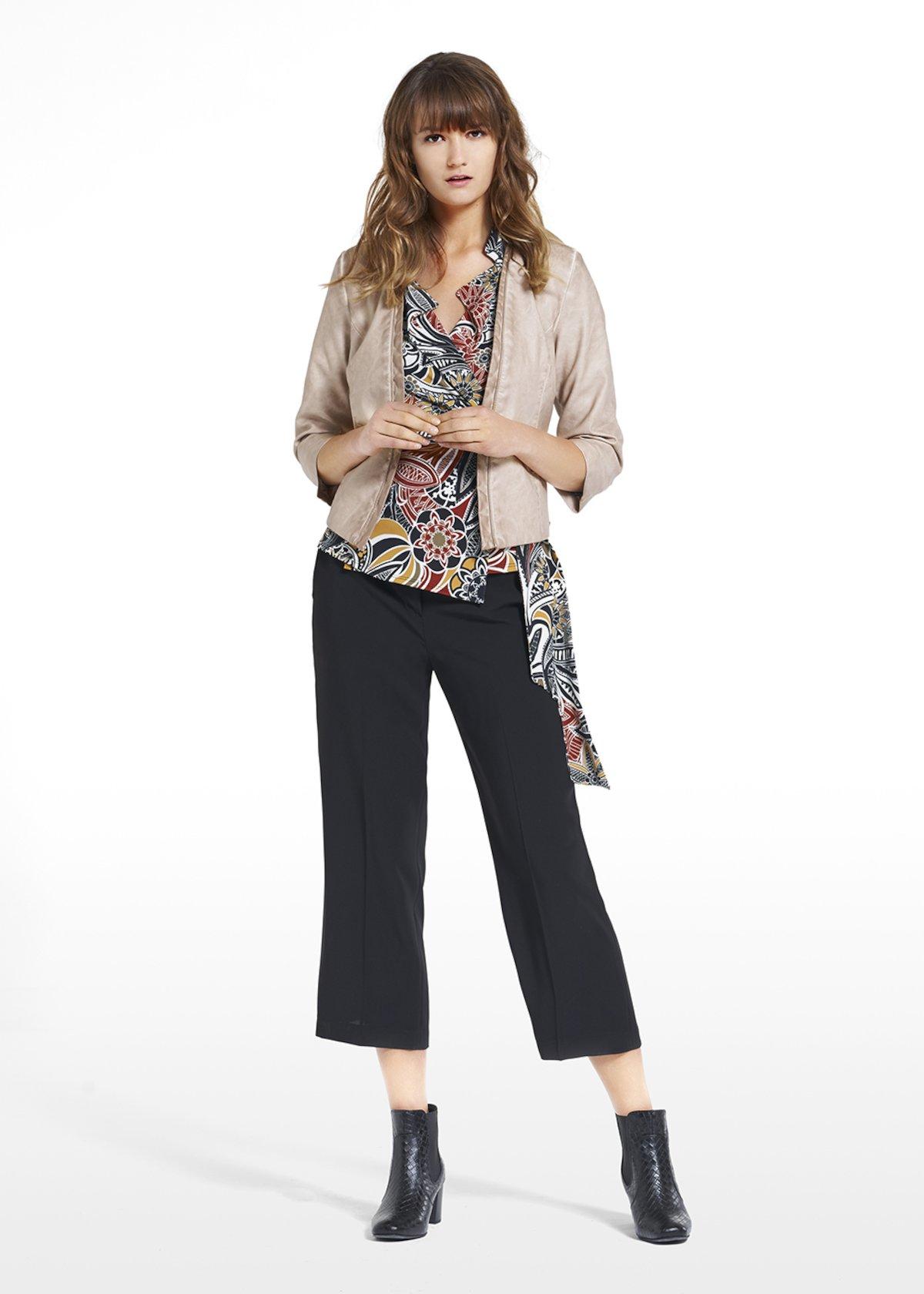 Pantaloni Piero con risvolto sul fondo - Black - Donna - Immagine categoria