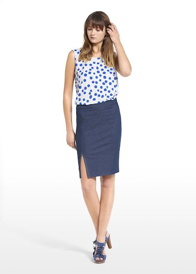 Skirt Gisel with slit on the front