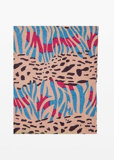 Beach towel Trevis animalier print