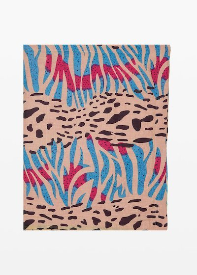 Beach towel Trevis animalier print
