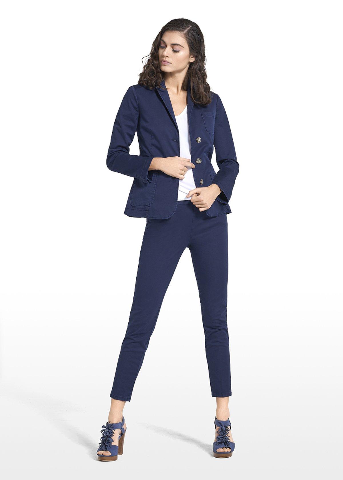 Jacket Gloria in cotton - Medium Blue - Woman