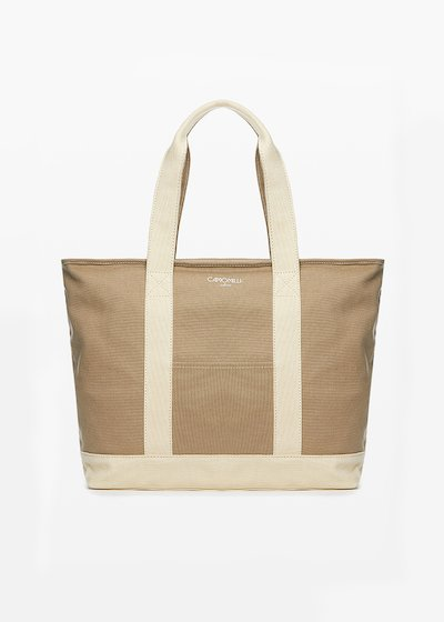 Shopping bag Bastien in canvas con logo printed