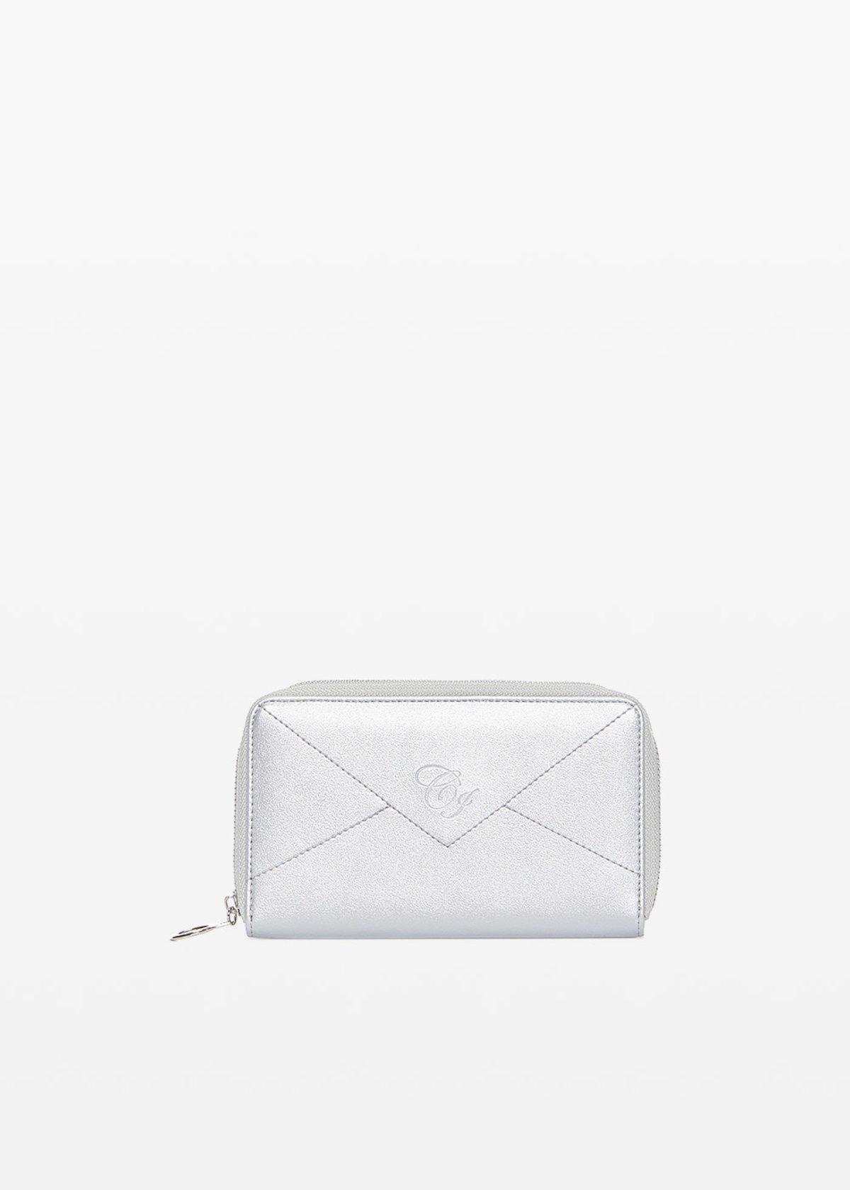 Portafoglio Pamel in ecopelle con logo embossed - Silver - Donna - Immagine categoria