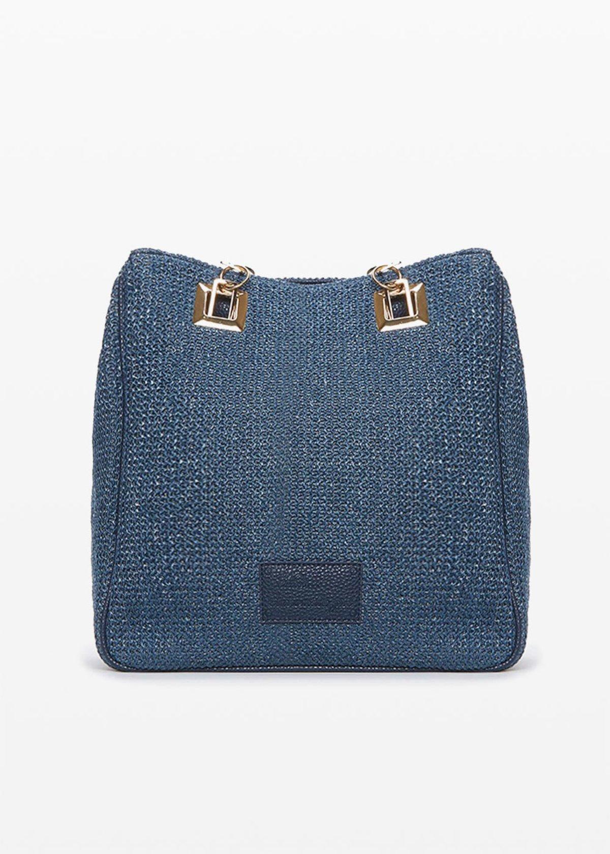 Blindas bag with zipper - Medium Blue - Woman
