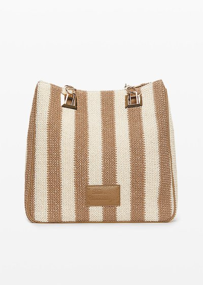Borsa Mini miss stripes con fantasia righe a contrasto