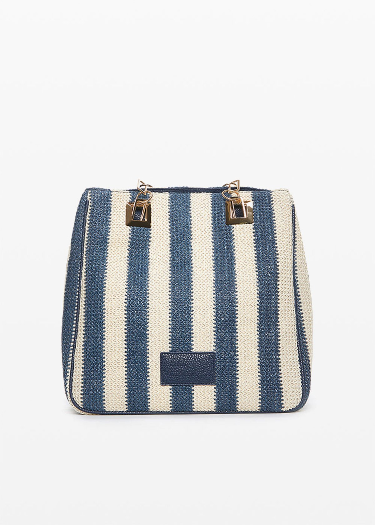 Mmissstri bag with stripes pattern - Medium Blue Stripes - Woman