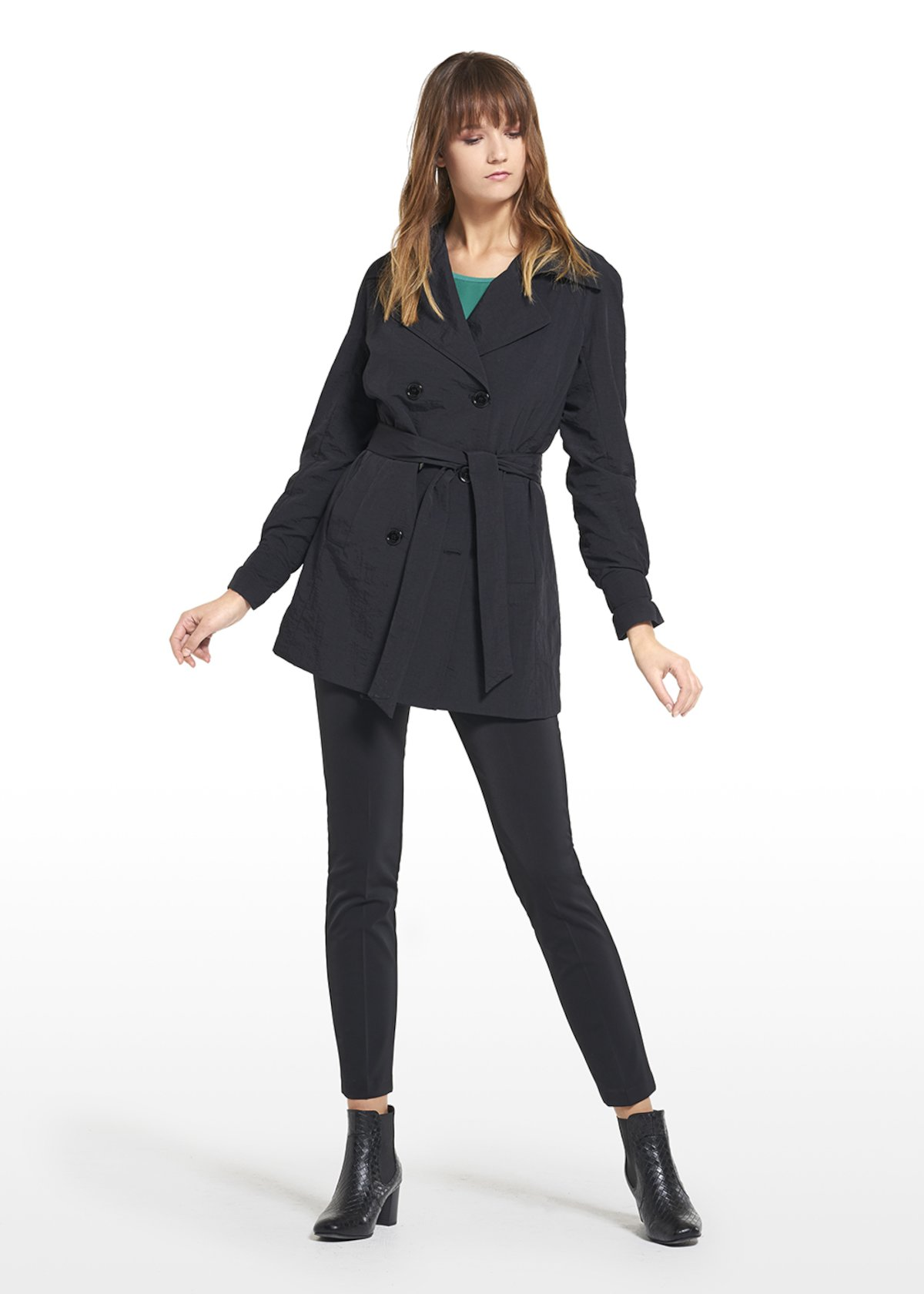 Trench Tulipano red passion - Black - Woman