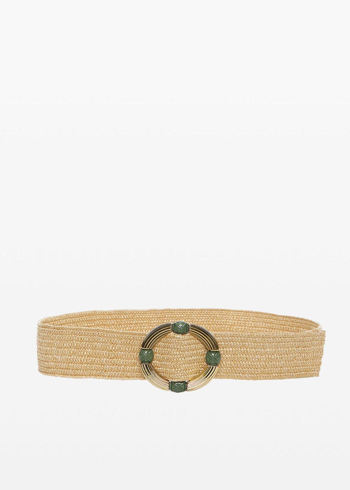 Connye circular buckle belt - Pear - Woman