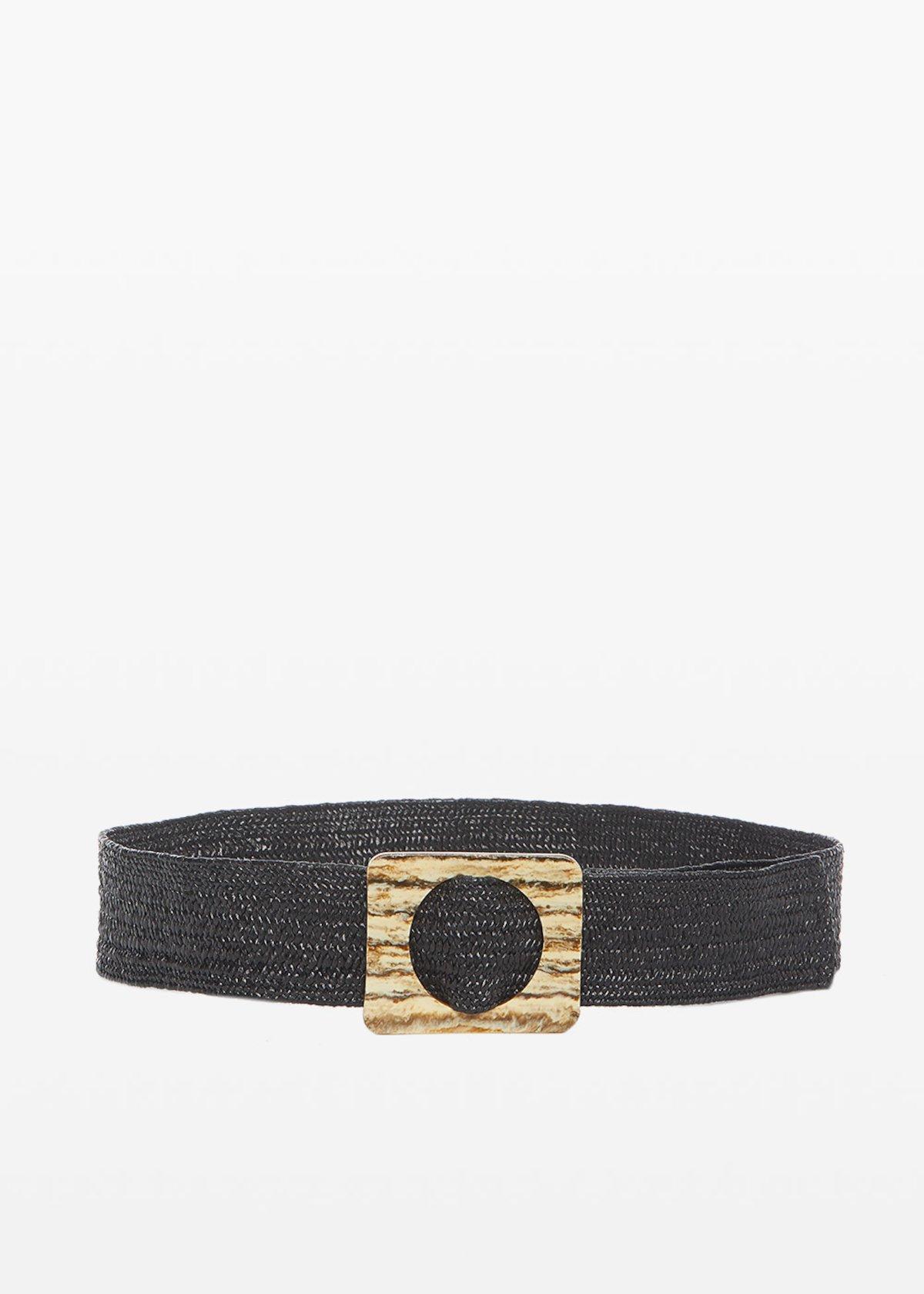 Braided Cahil Belt - Black - Woman